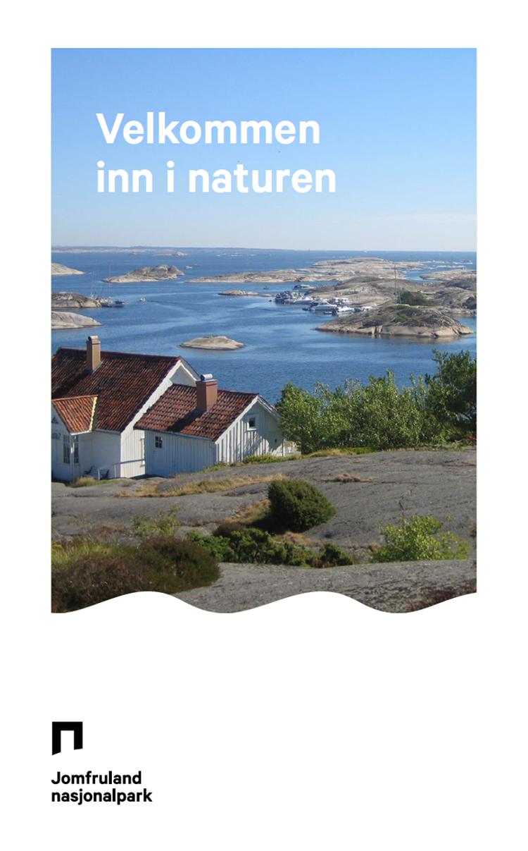 Brosjyre om Jomfruland nasjonalpark utgitt sommeren 2017.